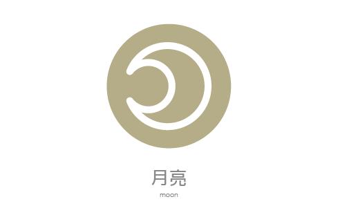 行星符號月亮